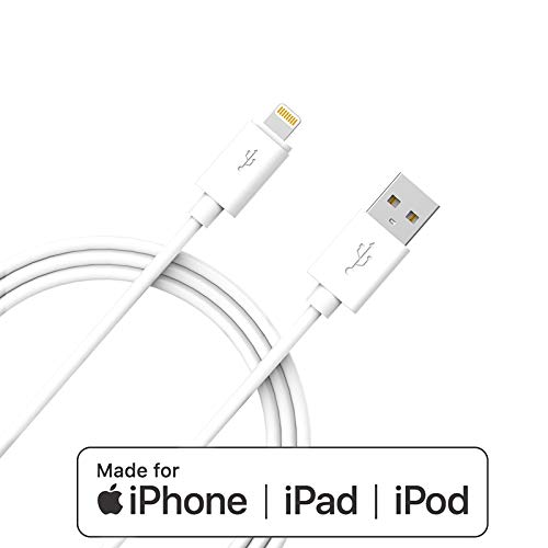 Apple MFi Certified iPhone Charger Lightning 8Pin Cable - Advanced Collection, Compatible with iPhone Xs MAX XR X 8 8 Plus 7 7 Plus 6s 6s Plus 6 6 Plus and More(6FT White)