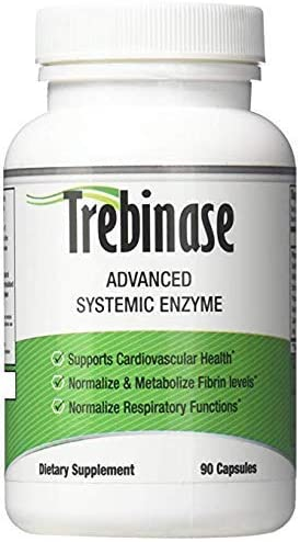 Trebinase 320,000 FU's Per Capsule Advanced Systemic Enzyme Blend of Serrapeptase, Nattokinase & Seaprose Plus Co-Enzymes - Dissolve Scar Tissue Quickly.- 99.99% Pure Pharmaceutical Grade Enzymes