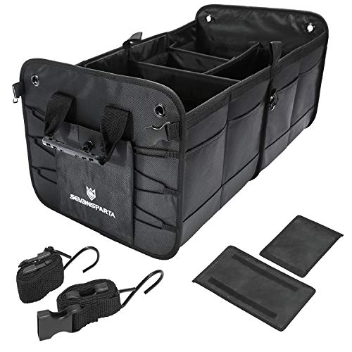 "Updated Trunk Organizer for Car Storage Collapsible Portable Multipurpose Compartments Cargo Storage SUV Sedan Auto Trunk Accessories Extended Size (27.6"" L x 15.7"" W x 12.6"" H)"