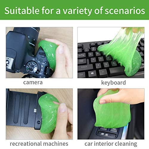 Merlinae Cleaning Gel for Car Detailing PC Keyboard Cleaner Laptop Dusting Home and Office Electronics Cleaning Kit Computer Dust Remover (8Pack(22.50oz/640g))