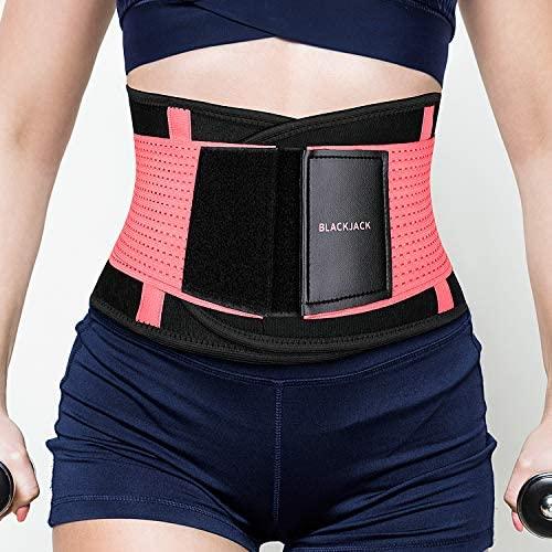 BLACK JACK K K Waist Trainer Belt for Women Back Brace Support Waist CincherTrimmer for Back Pain, Sciatica, Scoliosis with Breathable Mesh Design