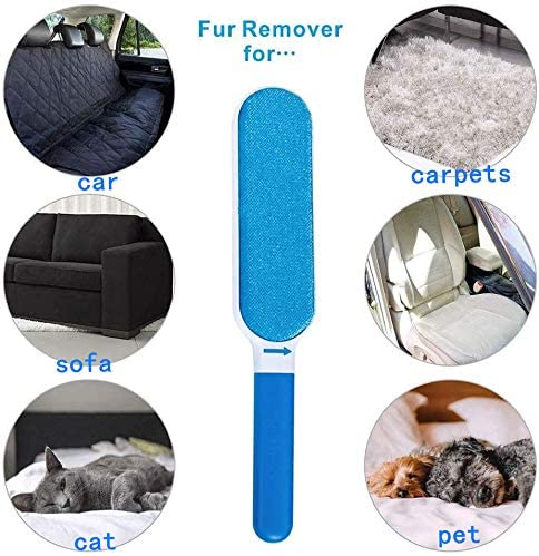 Pet Hair Remover Brush- Lint Remover - Dog & Cat Hair Remover with Self-Cleaning Base - Efficient Double Sided Animal Hair Removal Tool - Perfect for Clothing, Furniture, Couch, Carpet