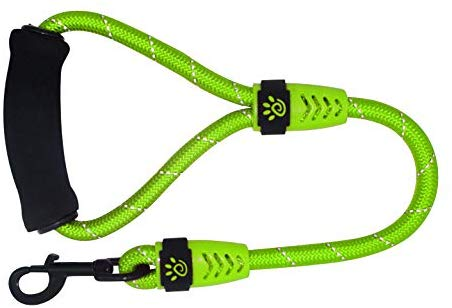 DOCO Reflective Rope Dog Leash with Foam Handle - Easy Grip, Quick Locking Snap for Dog Collar or Harness
