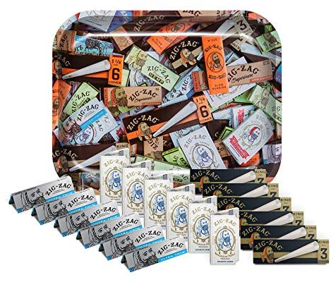 Zig-Zag Rolling Papers Variety Bundle (18 booklets and a Large Rolling Tray)