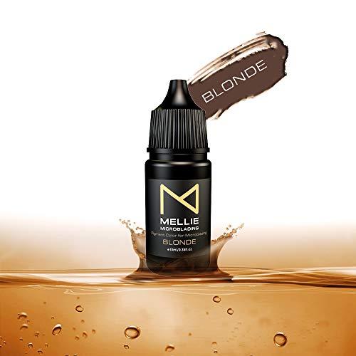 Mellie Microblading Pigment Ink – Blonde 10 ml/.35fl.oz | Medical Grade | No Mixing | Long Lasting Professional Tattoo Ink Best Microblading Pigment For Eyebrows