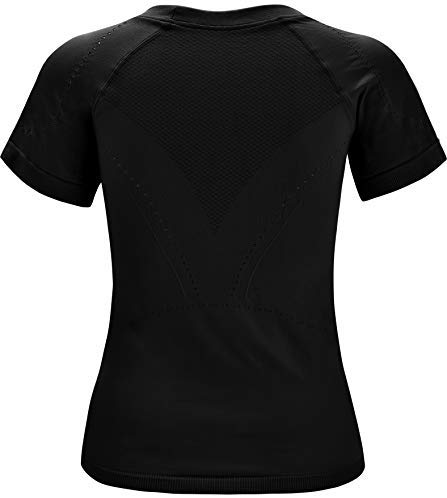 RUNNING GIRL Seamless Workout Shirts for Women Dry-Fit Short Sleeve T-Shirts Crew Neck Stretch Yoga Tops Athletic Shirts