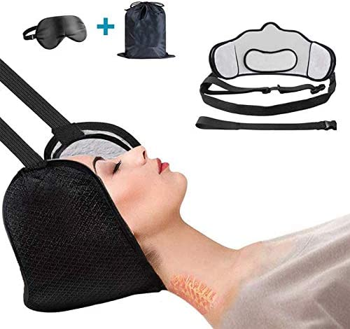 Hammock for Neck,Hammock for Head, Portable Cervical Traction w/Hammock Stand - Neck Shoulder Support Back Stretcher Device and Relexation