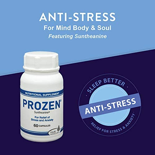 Value Added Life - Prozen | Suntheanine Supplement 100mg (60 Capsules) | Reduces Stress & Anxiety | 1 Month Supply | Non-Drowsy | Safe and Non Habit Forming | Natural and Calming L-Theanine Nootropic