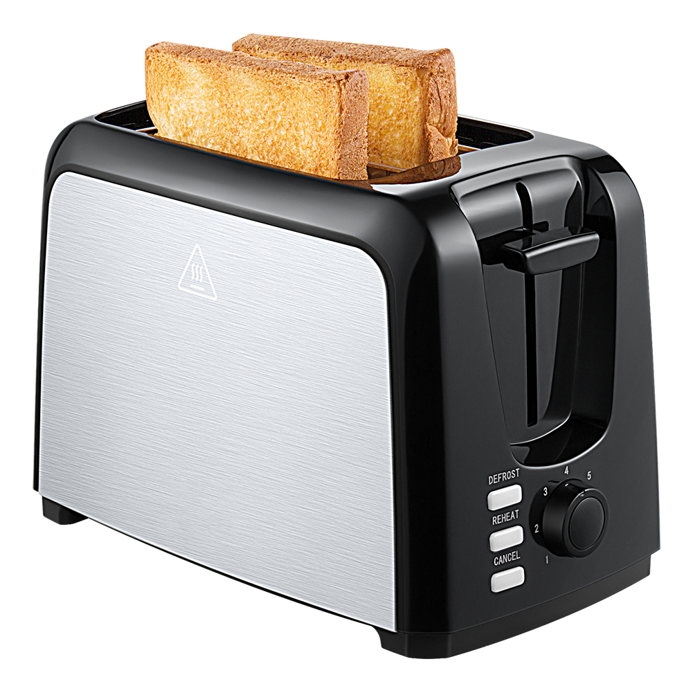 2-Slice Toaster, Extra-Wide Slot Toaster with Defrost, Reheat and Cancel Functions, 7 Browning Levels, Dust Cap and Removable Crumb Tray, Brushed Stainless Steel Body, Suitable for Toaster Pastries, Waffles