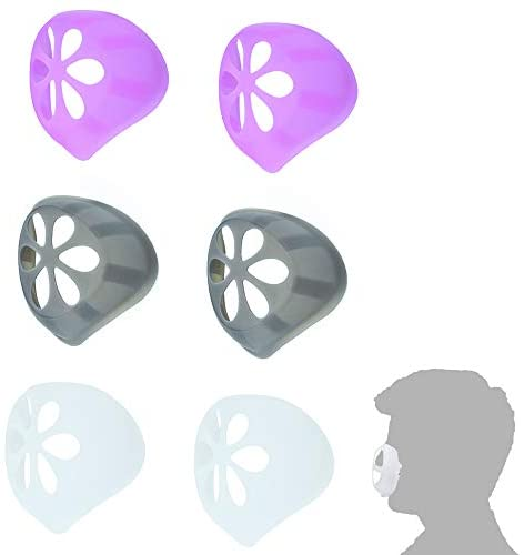 6-Pack 3D Face Mask Bracket Silicone Mask Internal Support Frame, Extension Bracket Face Cover Bracket Reusable Washable for Comfortable Breath-Mixed Color