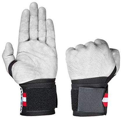 """RNS STAR Wrist Wraps 18"""" Professional Quality - Wrist Support Braces for Women & Men - Powerlifting, Xfit, Weight Lifting, Bodybuilding, Strength Training, Weight Training, Crossfit (1 Pair)"""