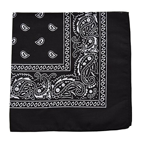One Piece Novelty Bandanas Paisley Cotton Bandanas