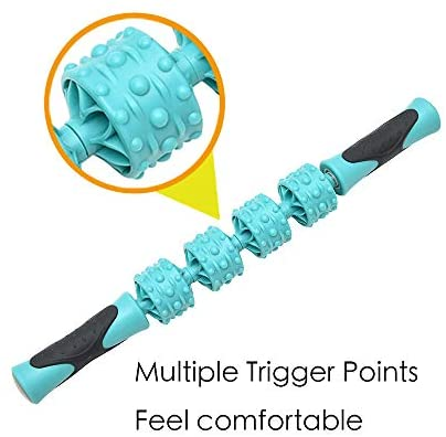 "Roebieh,Muscle Roller Stick, 16.5"" Body Massage Stick Tool for Deep Tissue and Trigger Point Therapy, Relief Muscle Soreness, Cramping and Tightness"