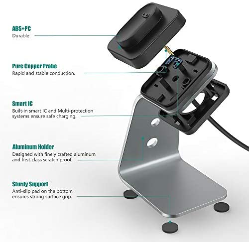 TUSITA Charger Stand Compatible with Fitbit Inspire HR Ace2 - USB Aluminum Charging Dock 5ft 150cm - Fitness Tracker Accessories