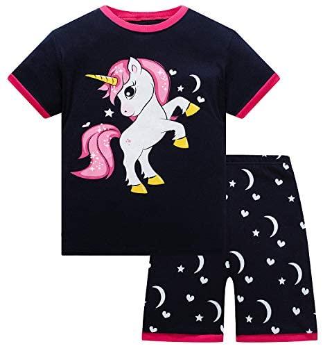 Girls Pajamas Set 100% Cotton Little Big Pjs Toddler Kids Sleepwear