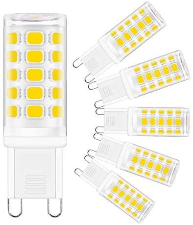G9 Led Bulb 4W(40W Halogen Equivalent), Natural Daylight White 4000K, G9 Bipin Base, 120V 400 Lumen, 360°Beam Angle, Sailstar G9 LED Light Bulbs for Chandelier, 6 Pack
