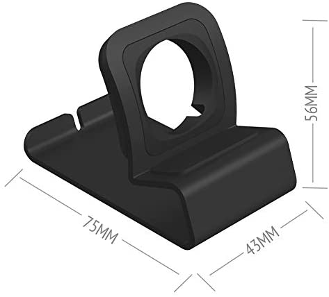 Compatible with Apple Watch Charger Stand, Aluminum Apple Watch Stand iWatch Charging Holder Dock with Nightstand Mode for Apple Watch Series 5/4/3/2/1,Magnetic Charger not Included(Black)