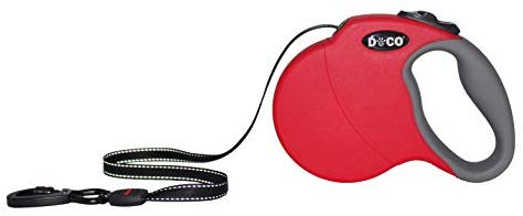 DOCO All Day Adventure Retractable Dog Leash - Reflective Tape, Anti-Slip, Tangle-Free Secure Control