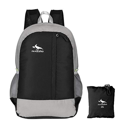 Famebird Durable Lightweight Packable Hiking Backpack 25L Small Water Resistant Travel Daypack