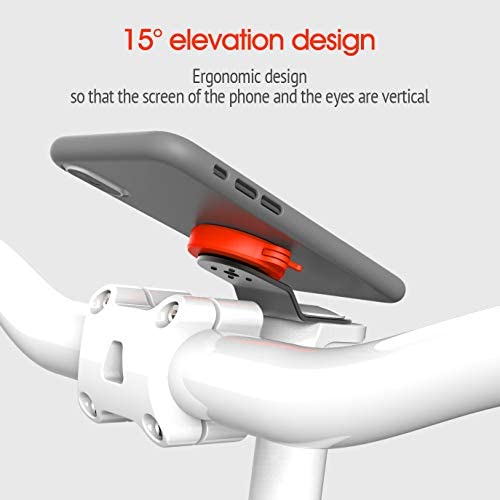 Mountain Bike Phone Mount with Quick Mount and Ultra-Lock System Aluminum Alloy Universal Phone Holder for Bike Bicycle Stem Fits iPhone 11 Pro Max Xr Xs X 8 Plus Samsung Galaxy Google Pixel and More