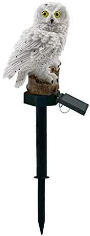 Owl Garden Lights - Solar Night Lights Owl Shape Solar-Powered Lawn Lamp - Waterproof, Energy Saving (White)