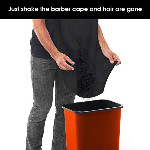"SINVNE Barber Cape Non-stick Professional Salon Cape Adjustable Neck Straps Hair Cape Waterproof Barber Styling Cape Hair Cutting Cape for Men Women-63""x 55.1"""
