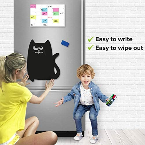 "Magnetic Chalkboard for Refrigerator - Black Board for Fridge Magnetic - Black Dry Erase Board Magnetic - Fridge Black Magnetic Board for Kids with Markers and Holder 15"" X 11""Magnetic Chalkboard for Refrigerator - Black Board for Fridge Magnetic - Black Dry Erase Board Magnetic - Fridge Black Magnetic Board for Kids with Markers and Holder 15"" X 11"""