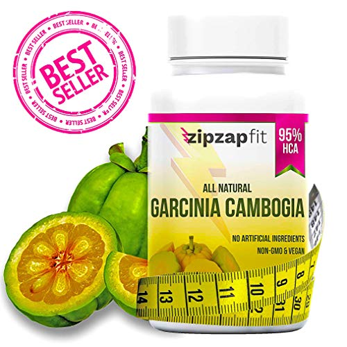 ZipZapFit Pure Garcinia Cambogia Extract - 95% HCA Capsules - Best Weight Loss Supplement - Non GMO - Gluten & Gelatin Free - Natural Appetite Suppressant and Weight Loss Support - 60 Capsules (1)