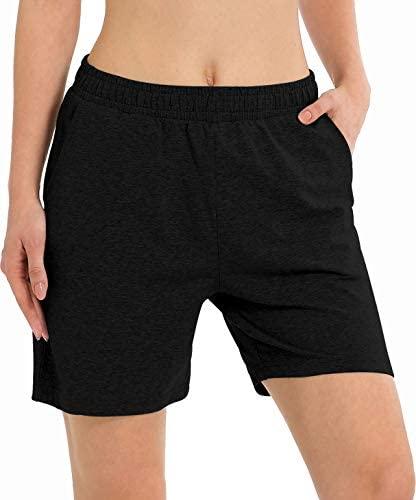 "Women's 5"" Activewear Lounge Bermuda Shorts Gym Jogger Yoga Shorts with Pockets"