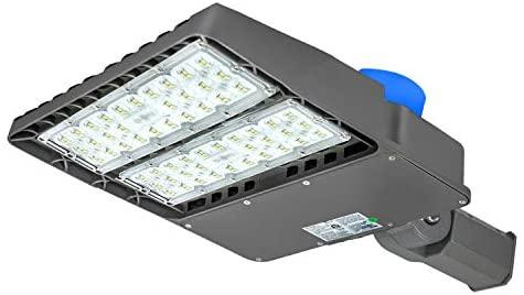 LED Parking Lot Lighting,200W 24000 Lumens,with Dusk-to-Dawn Photocell Sensor,Waterproof LED Street Light,100-277V LED Shoebox Area Light (Slip Fit 200W)