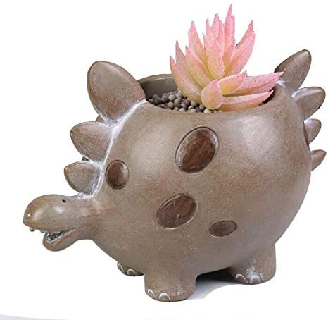 Cartoon Resin Dinosaur Succulent Planter Bonsai Cactus Flower Pot Air Plant Vase Holder Desktop Decorative Organizer
