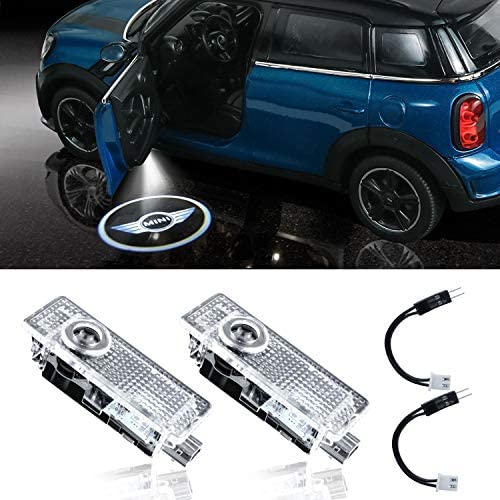 Eogifee The Replacement of Mini Cooper LED Car Door Light Logo Welcome Projector Shadow Light without Noise for Mini Cooper Clubman Accessories (2 Pack)