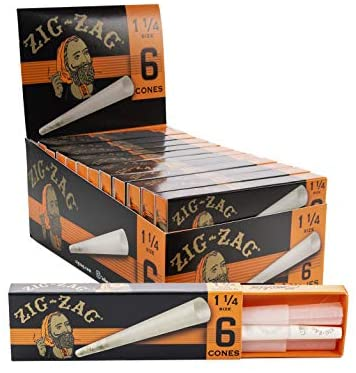 Zig-Zag Paper Cones 1 and 1/4 (24 Packs per Carton)