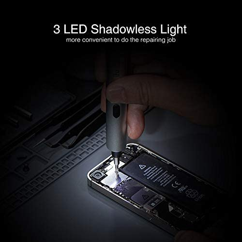 IFU 23 in 1 upgrade Lithium Precision Screwdriver With LED Light And Magnetic Mat, Electric Screwdriver Rechargeable Repair Tool kits For Most Electronics Devices