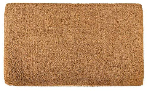 "SERENITA Natural Coco Coir Doormats for Outside with Heavy Duty Weather Resistant Non-Slip Rubber Backing Indoor Plain 18""x30"""