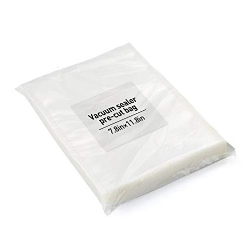 100-Pack Food Vacuum Sealer Bags 7.8x11.8 Inch BPA Free Pre Cut Bags for Sous Vide and Food Saver
