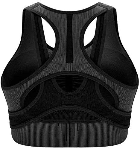 RUNNING GIRL Medium Impact Seamless Sports Bra for Women,Yoga Bra Workout Fitness Activewear Racerback Bras