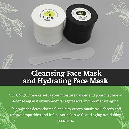 Herbal Remedy Detox Clay Mask for Face Skin Care | 2 In 1 100% Natural Face Mask, Minimize Pore Cleaning Mask, Active Charcoal Clay Face Mask for Acne, Detox Mask, Exfoliating Mask, Mud Masks for Face