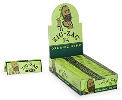 Zig Zag 1 1/4 Size Organic Hemp Rolling Paper (24 Booklet Carton)