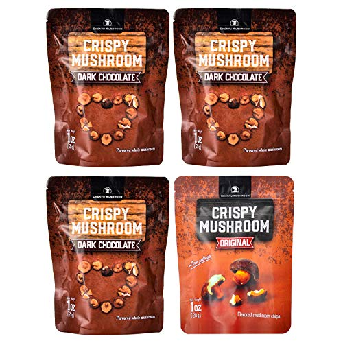 Shiitake mushroom crisps, Crispy Mushroom, Low fat snack pack, Crunchy healthy, Vegetable crisps, Mushroom snack, vegetable snacks, healthy crunchy snacks, mushroom chips snacks, varitey pack of 4