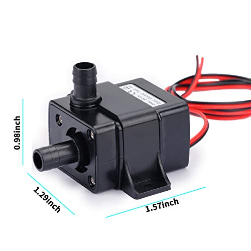 Allnice SubmersibleWaterPump(240L/H, 4.8W) 12v Electric Brushless Submersible Fountain Pump with 9.8ft High Lift Outdoor Water Pump with 1.4ft Power Cord for Aquarium, Pond, Fish Tank, Hydroponics