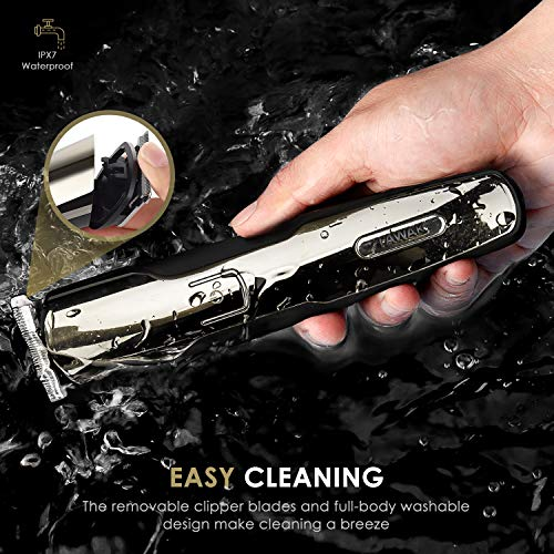 Hair Clippers for Men, Dual Use Hair Trimmer with 4 Comb Attachments, Cordless Hair Trimmer with Long-Lasting Battery, High-Performance Beard Trimmer with Powerful Blade, IPX7 Waterproof Hair Clippers