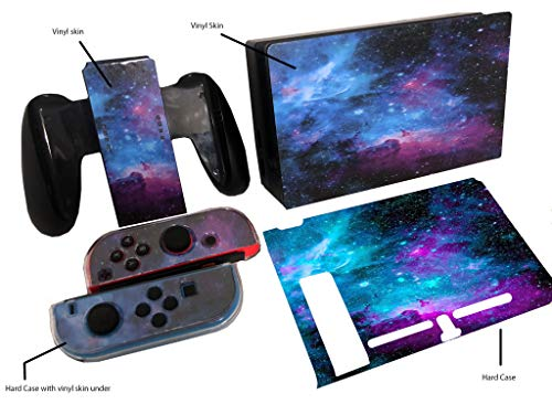 Galaxy Nebula Hard Crystal Case for Nintendo Switch and Joycons (+ Free Vinyl Decal Gifts)
