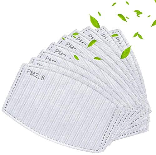 SERENITA 20 Pack Reusable PM2.5 Filter for Balaclavas Face Cover, Bandanas, Rreplacement Accessory White