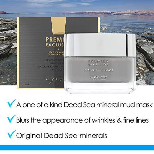 Premier Dead Sea mud mask, anti-aging skin care, pore refining mask, witch hazel, aloe vera gel, minerals, nutrients & antioxidants black face mask for body & facial mask online Exclusive skin care 1.7FL.oz