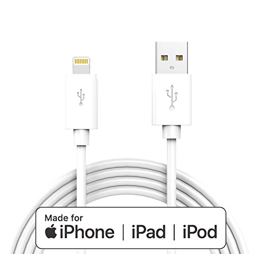 Apple MFI-Certified Lightning iPhone Charger Cable - Made for iPhone 11/11pro max/Xs/XS Max/XR/X / 8/8 Plus / 7/7 Plus / 6/6 Plus / 5 / 5S and More,6FT (White)