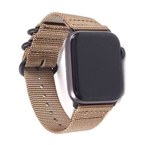 Yimitree Woven Nylon Strap NATO Compatible with Apple Watch Band 40MM 44MM,Replacement Band Compatible with iwatch Series 5 4 3 2 1 38MM 42MM (Color-1, 38MM-40MM)