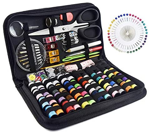 Fanciher Sewing Kit, 172PCS DIY Mini Quality Sewing Supplies for DIY, Beginners, Adults, Emergency, Summer Campers, Travel and Home with Storage Bag