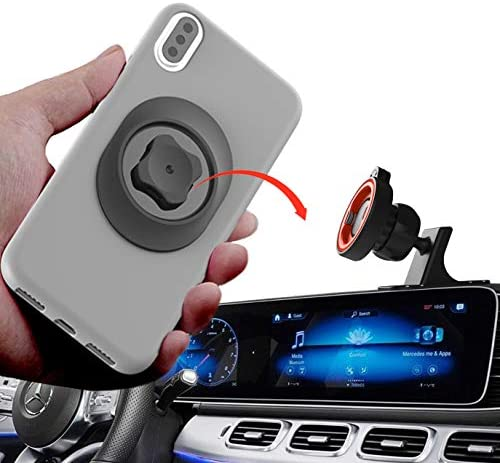 Car Phone Mount Without Magnetic, Stick On Dashboard 360° Rotatable Universal Cell Phone Holder with Ultra-Lock Quick Mount Strongest VHB Adhesive for iPhone Google, Huawei GPS Mini Tablet and More