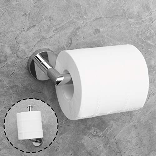 Coching Polished Chrome Toilet Paper Holder Premium 304 Stainless Steel Toilet Roll Holder for Bathroom Rustproof Wall-Mounted